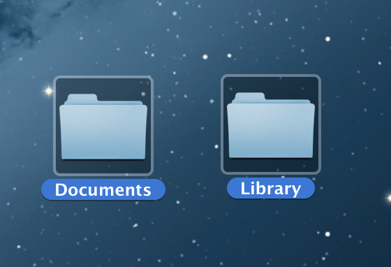DocumentとLibraryフォルダ