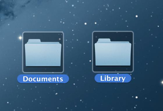 DocumentとLibraryフォルダ