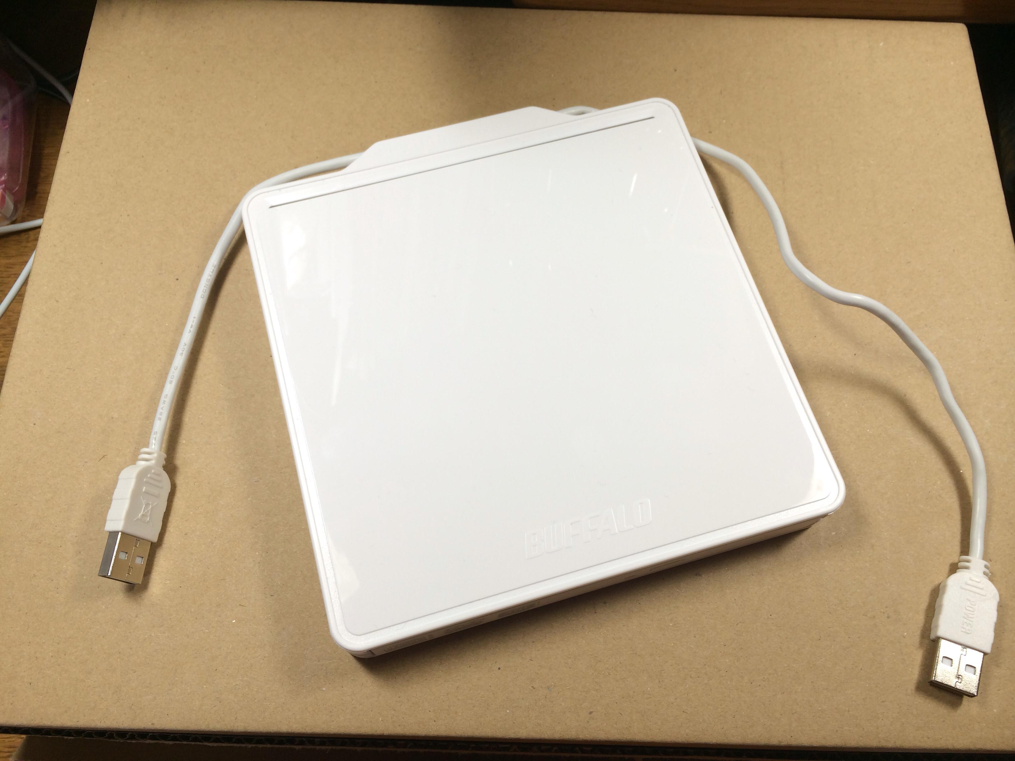 Mac対応のポータブルDVDドライブを購入しました