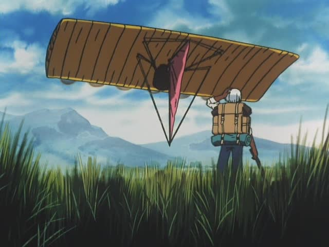 大きな飛行船