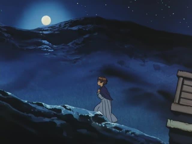 満月の夜、ロランを追うソシエ