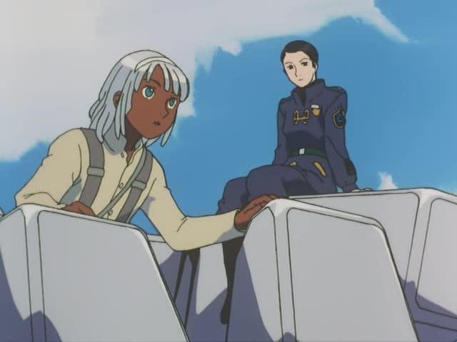 ポゥ少尉と話すロラン