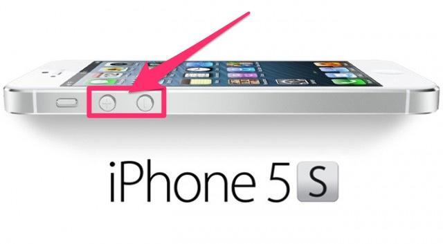 iPhone 音量ボタン