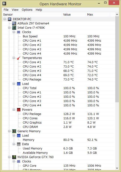 自作PC CPU 温度