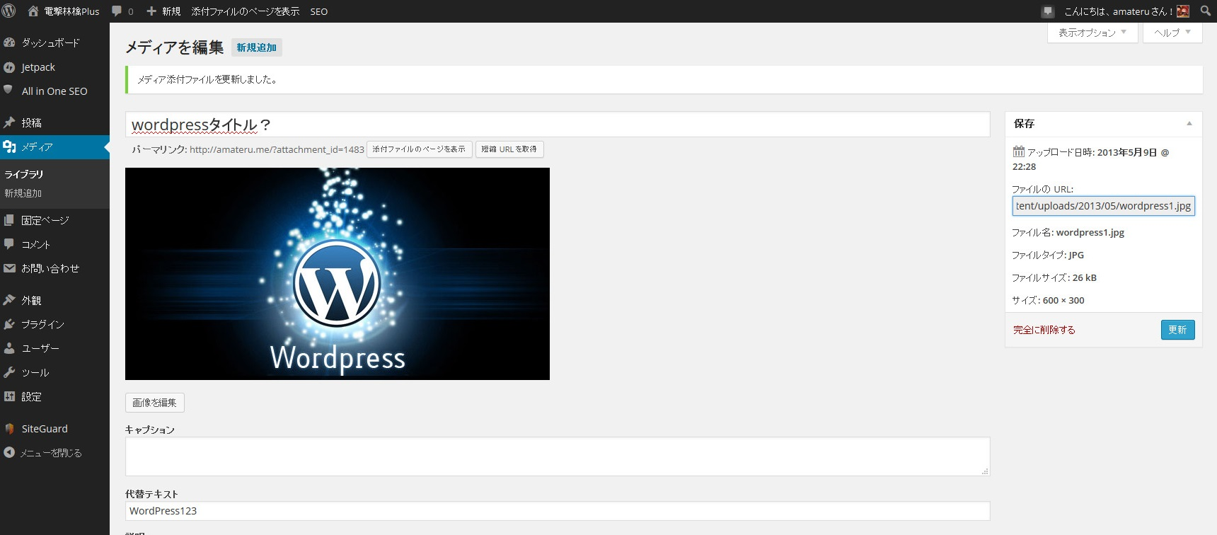 WordPress 表示 解決