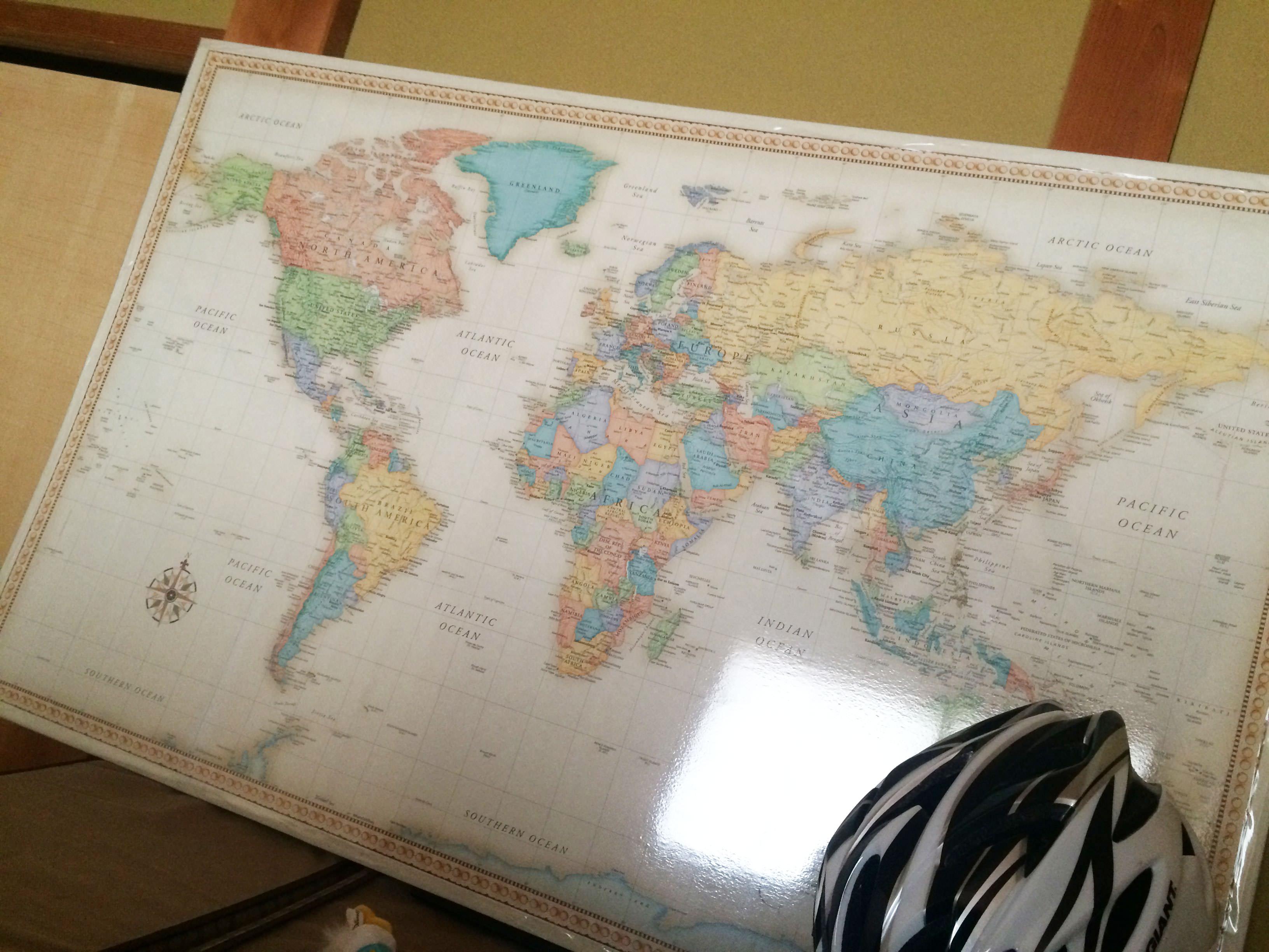 Rand Mcnally World Map 斜め右