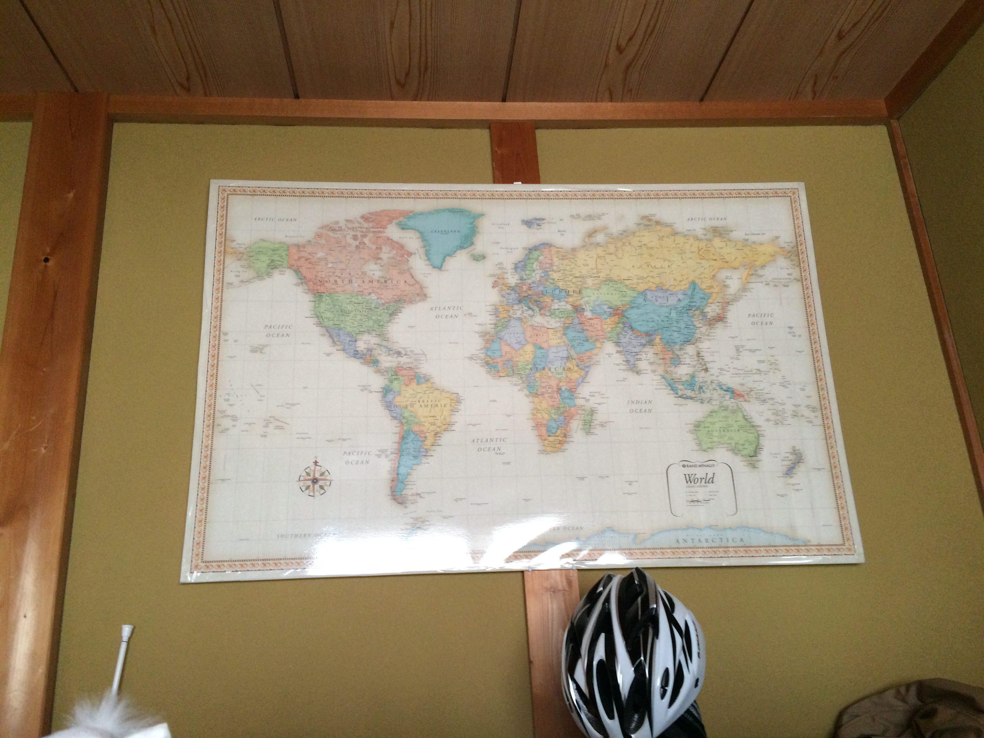 世界地図 正面