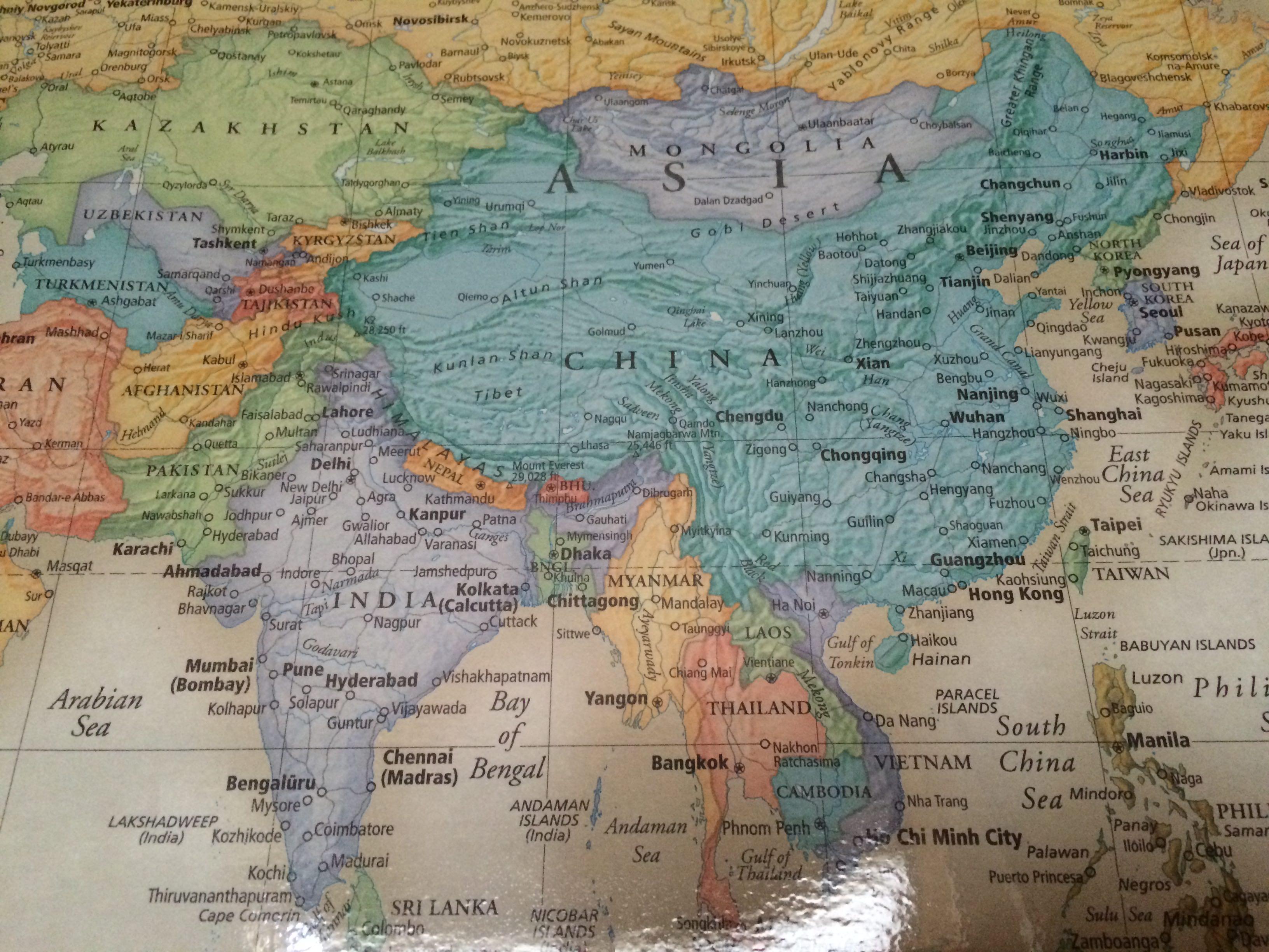 Rand Mcnally World Map アジア