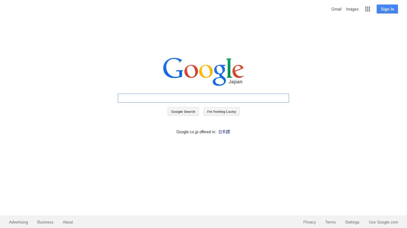 米国製検索エンジン:Google