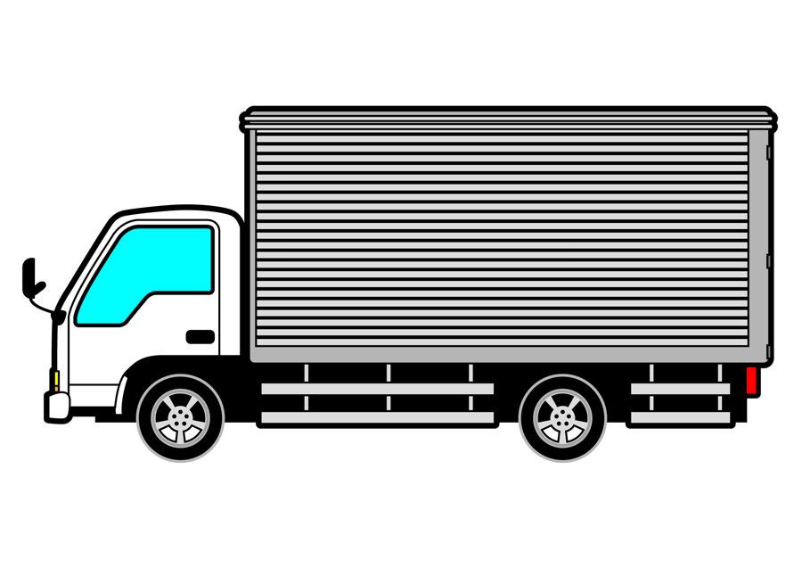 危険運転のトラック