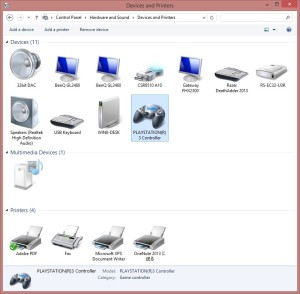 Windowsコントロールパネル・デバイス(インストール前)のスクリーンショットです。