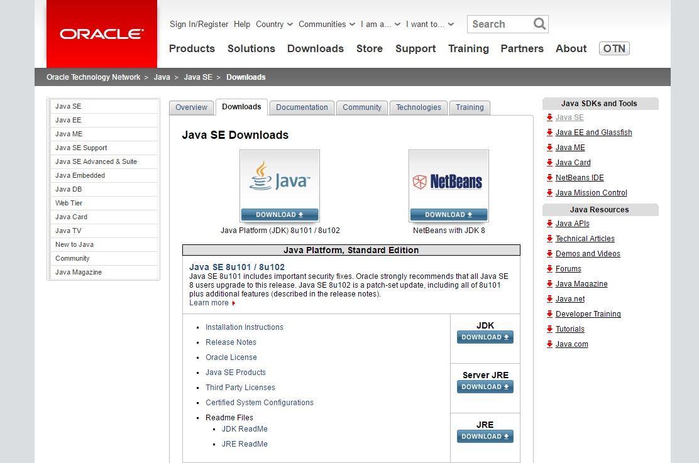 Java SE Download (JDK/JRE)