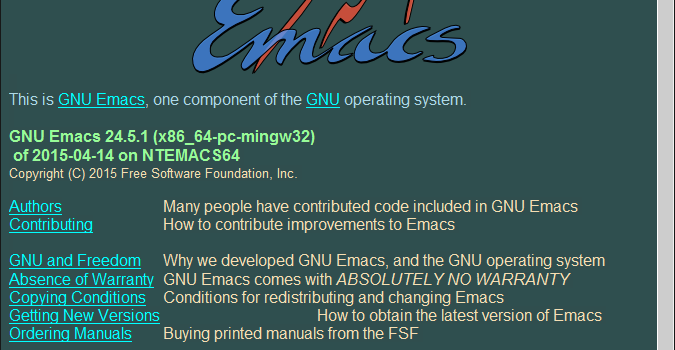 Windows用 Emacs(gnupack)のダウンロード