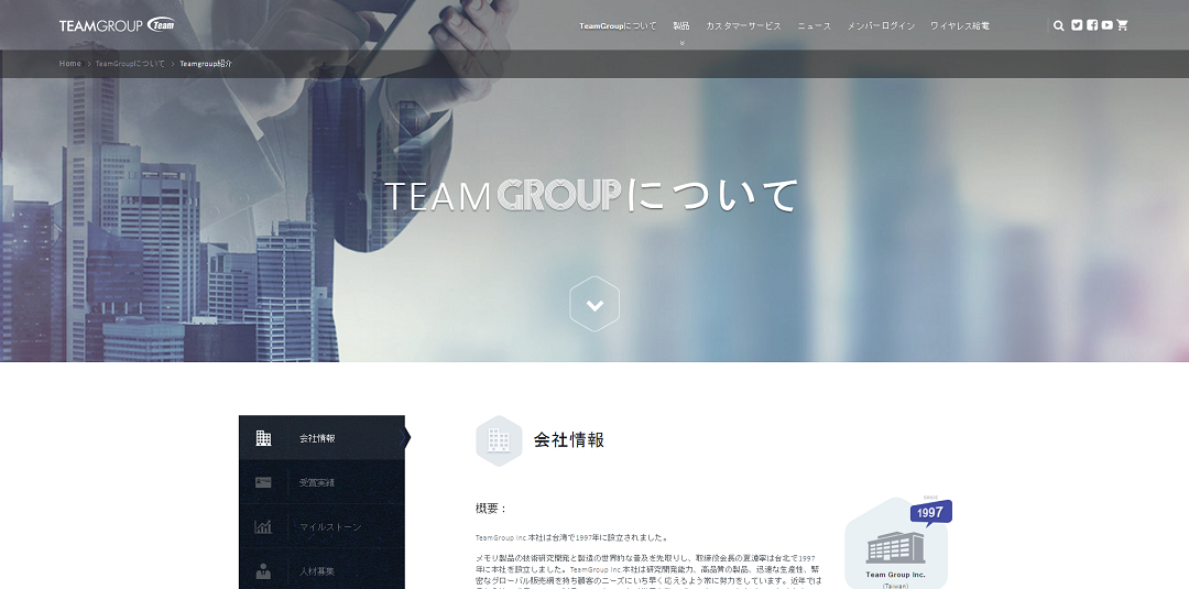 Team company official web
