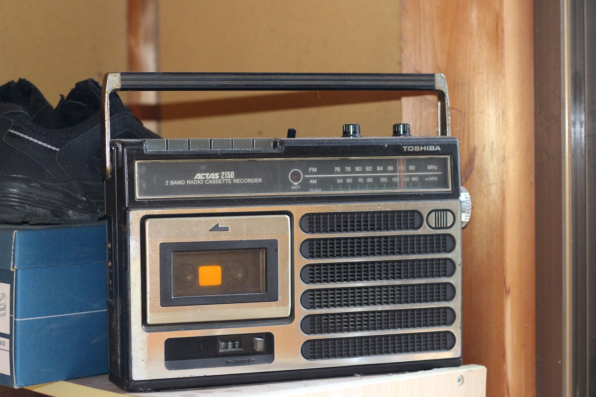 自宅の東芝のラジオ