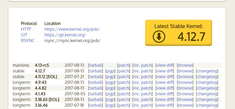 Linuxカーネルをソースからコンパイル・再構築する