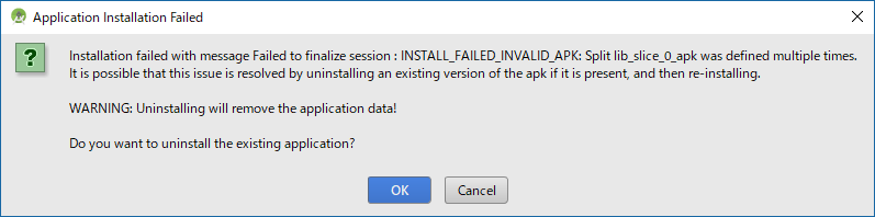 Android Studio - Application Installation Failed
