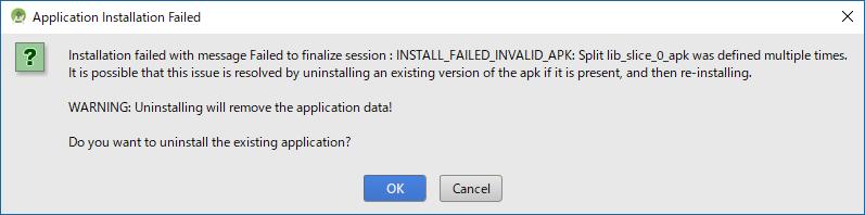 Android Studio - Application Installation Failed