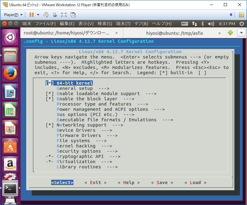 Linux Kernel menuconfig