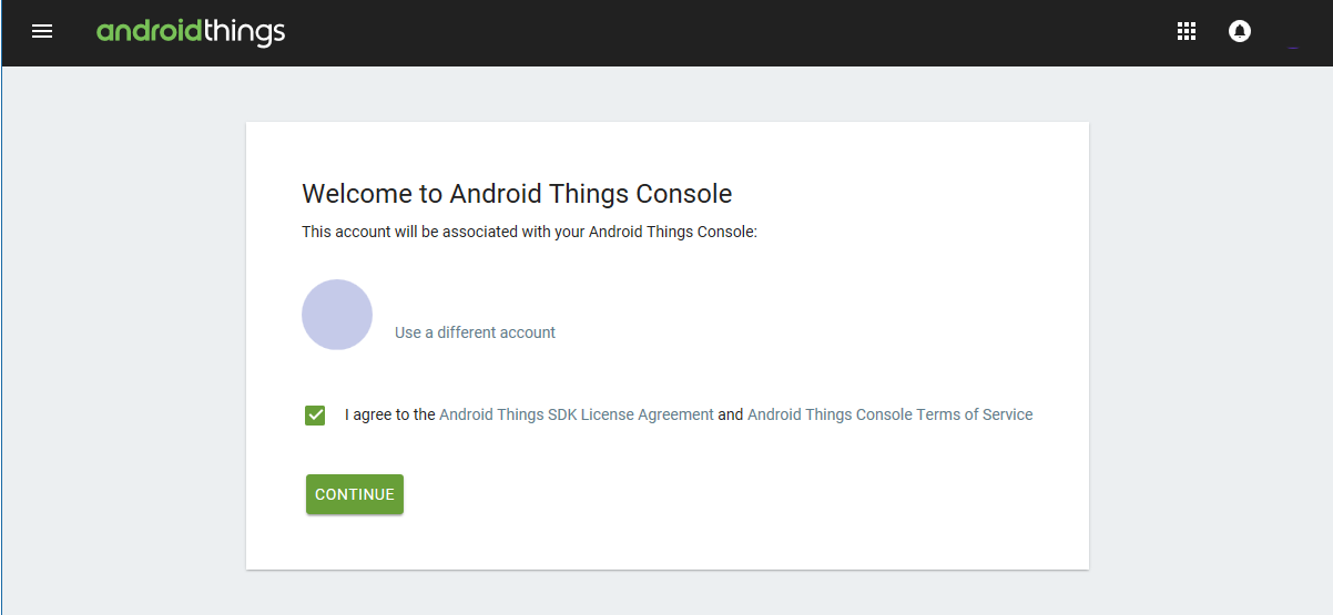 Android Things Console Official Web