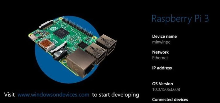 Raspberry Pi3にWindows 10 IoT Coreをインストールする
