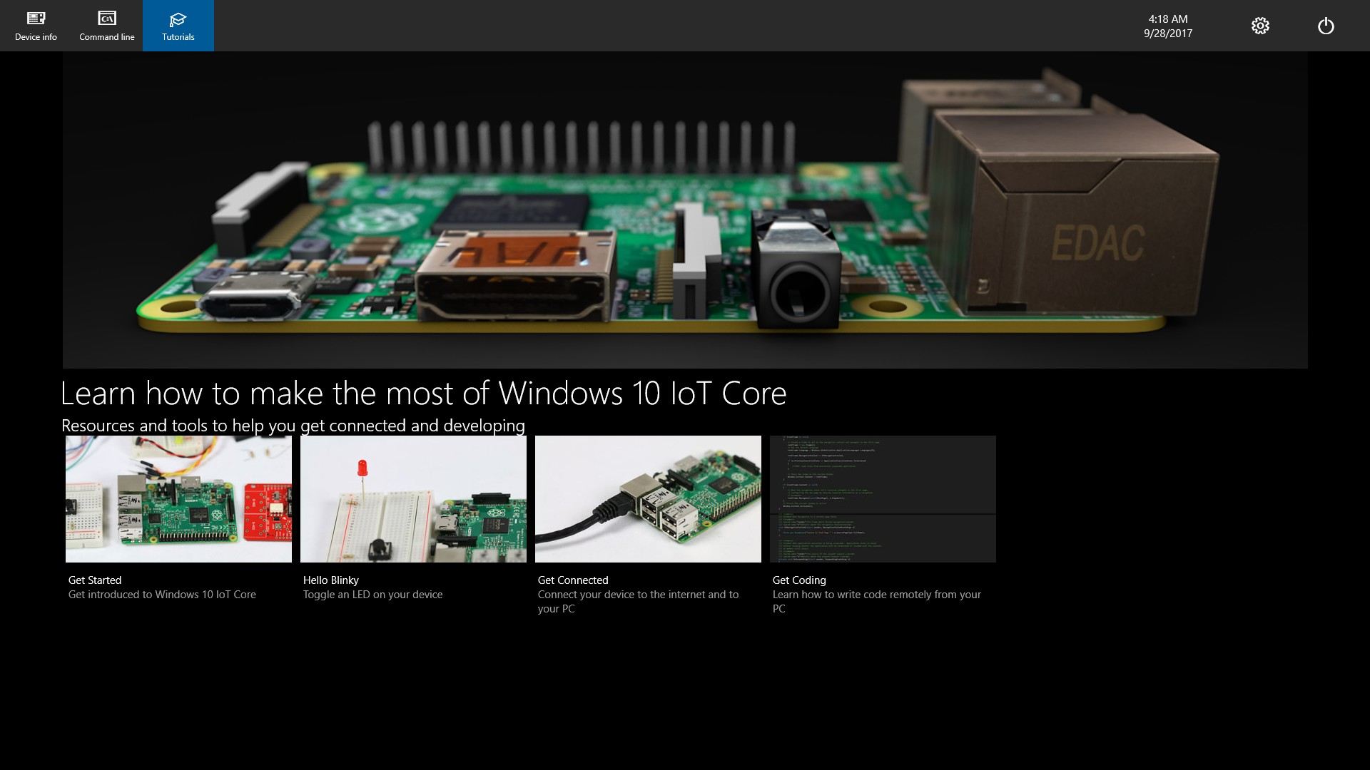 Windows 10 IoT チュートリアル