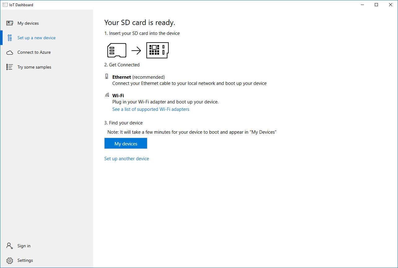 Windows IoT Dashboard