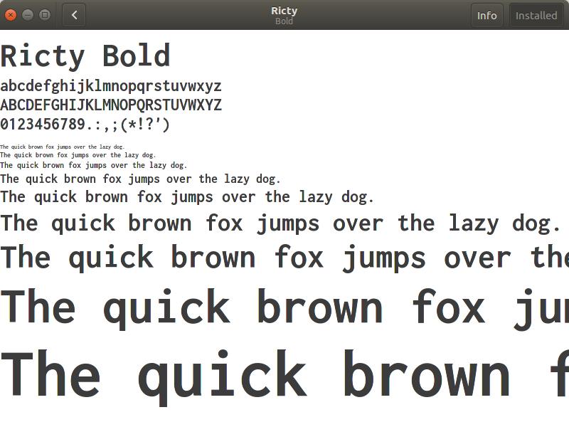 Font Viwer Ubuntu