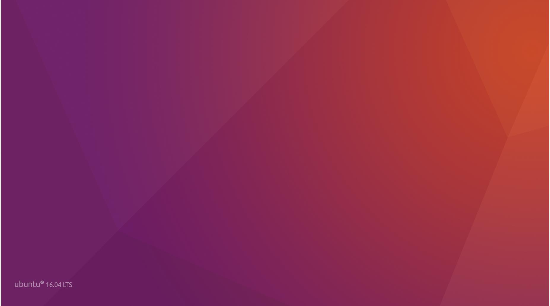 Ubuntu 16.04 LTS Desktop 壁紙