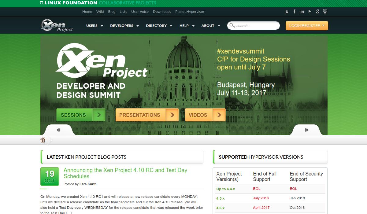 Xen Project Official Web