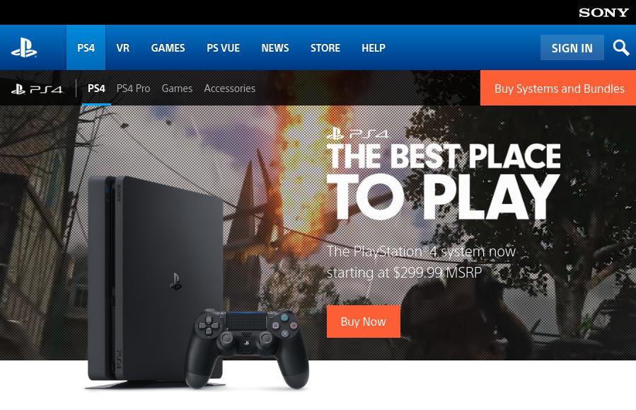 PS4 Official Web Site