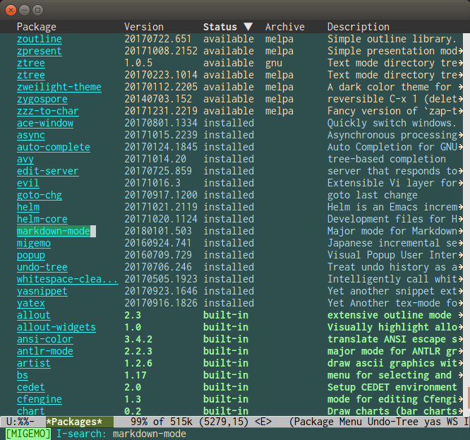 Emacs Markdown Package Manager