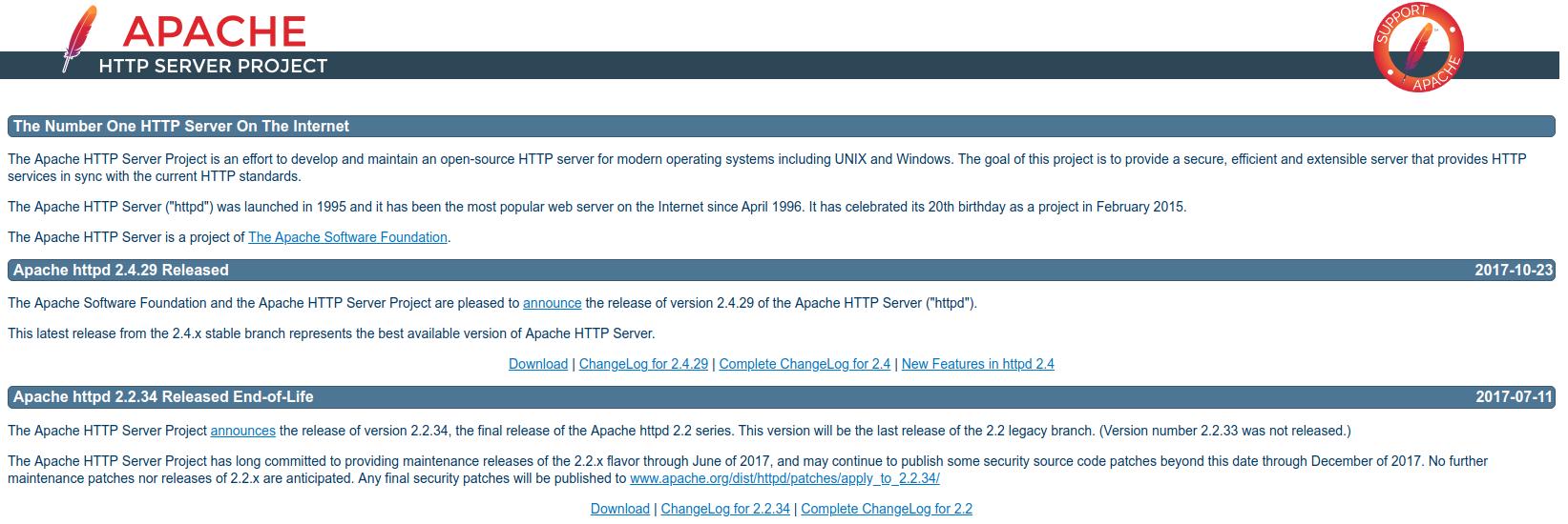 Apache 公式ウェブ