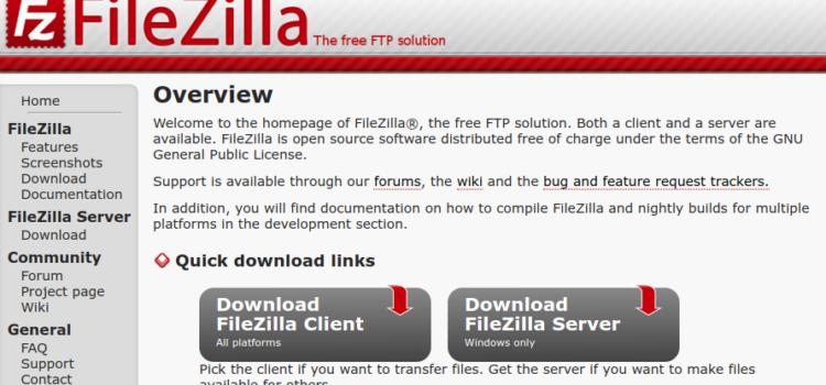 FileZillaの接続設定 (ロリポップサーバー)