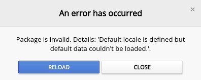 Chrome拡張機能 エラー