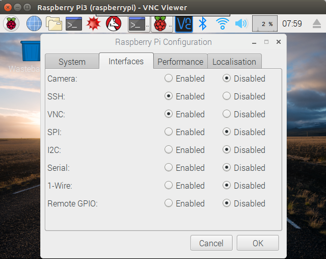Raspberry Pi SSH 有効化