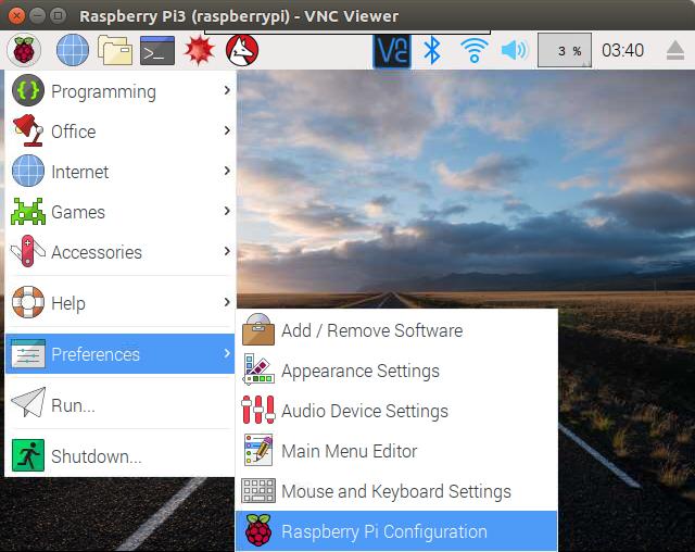 Raspberry Pi3 Preference