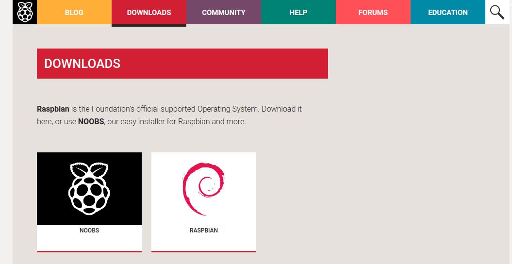 Raspbian 公式ウェブ